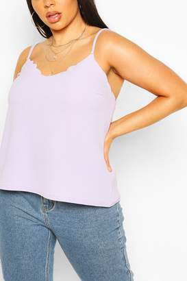 boohoo Plus Scallop Tiered Cami