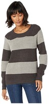 BCBGeneration Stripe Sweater FOH5254929 (Charcoal Combo) Women's Sweater