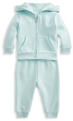 Ralph Lauren Baby Girl's Fleece Hoodie & Pant Set