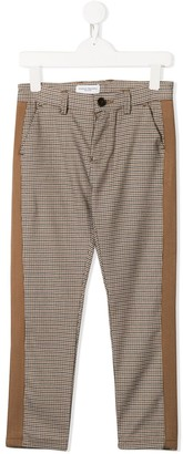 Paolo Pecora Kids checked slim fit trousers