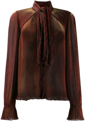 Marco De Vincenzo pleated long-sleeve blouse