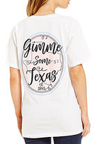 Royce TX Circle Seersucker Short-Sleeve Graphic Pocket Tee