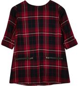 River Island Mini girls red checked shift dress