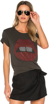 Lauren Moshi Croft Bold Mouth Tee