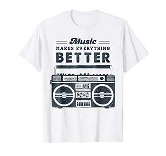 Music Makes Everything Better Old School Boom Box T-Shirt