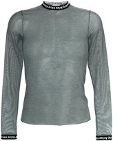 Aries sheer long-sleeved top