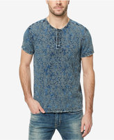 Buffalo David Bitton Men's Kalight Palm-Print Cotton Henley