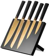 Viners 6-Piece Titanium Gold Knife Block