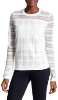 Bailey 44 Two Way Street Stripe Sheer Yoke Sweater