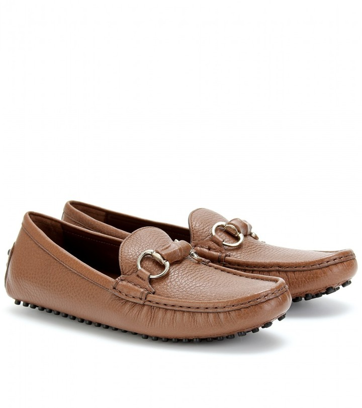 Gucci DAMO LEATHER LOAFERS