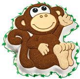 "Wilton Novelty Cake Pan - Monkey 12-3/4"" x 11-1/4"" x 2"""