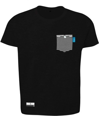 Anchor & Crew Noir Black Marker Print Organic Cotton T-Shirt (Mens)