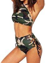 Kinghard® Kinghard Women Sandy Beach Halter Bikini Set Swimsuit Set Swimwear (S)