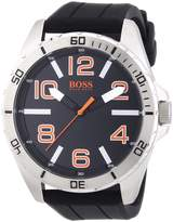 HUGO BOSS Men's 1512943 Silicone Analog Quartz Watch with Dial