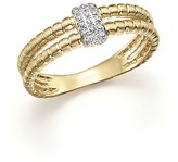 KC Designs Diamond Double Band Ring in 14K Yellow Gold, .10 ct. t.w.