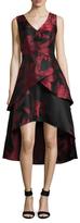 Shoshanna Rose Cocktail Midi Dress