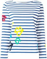 Ports 1961 lips print striped sweatshirt