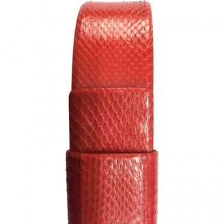 Max Mara Red Leather Belts