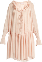 See by Chloe Ruffled stretch gauze-jersey dress