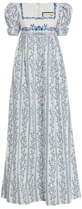 Agua Bendita Cotton Pistacho Grosellas Maxi Dress