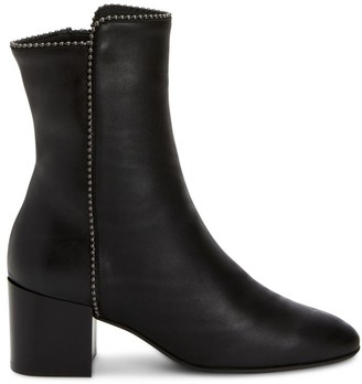 Aquatalia Faustina Bead-Trim Leather Ankle Boots