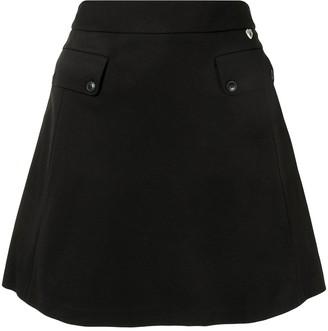 Twin-Set crepe A-line skirt