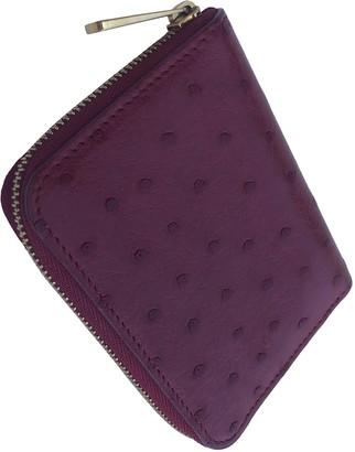 Louis Vuitton Zippy Red Ostrich Purses, wallets & cases