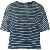 Current/Elliott The Painter Striped Cotton Top