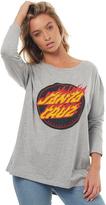 Santa Cruz Womens Flaming Dot Long Sleeve Tee Grey