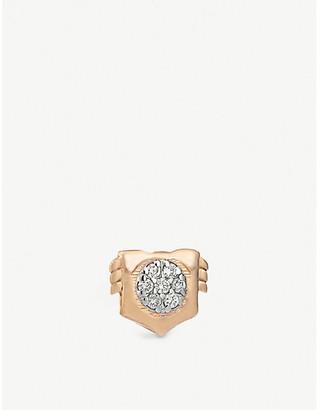 Selfridges Kismet By Milka Leo 14ct rose gold stud earring