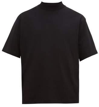 Acne Studios Eagan High-neck Cotton T-shirt - Mens - Black