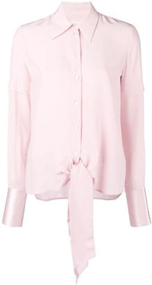 Victoria Victoria Beckham Long-Sleeve Fitted Blouse