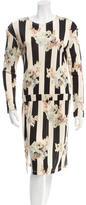 Suno Long Sleeve Floral Print Dress