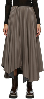 Nanushka Grey Faux-Leather Meeja Skirt
