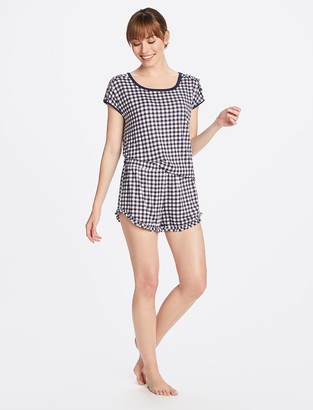 Draper James Gingham Top and Ruffle Hem Shorts