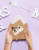 TACHE Mr & Mrs Pug 3D Wedding Card