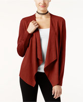INC International Concepts Faux-Suede Draped Cardigan, Only at Macy's