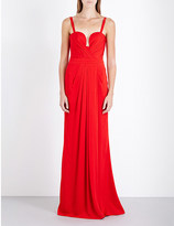 Alexander McQueen Pleated crepe gown