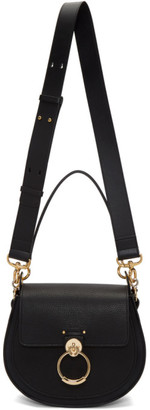 Chloé Black Grained Large Tess Bag