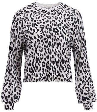 Alice + Olivia Ansley Blouson-Sleeve Cashmere Pullover