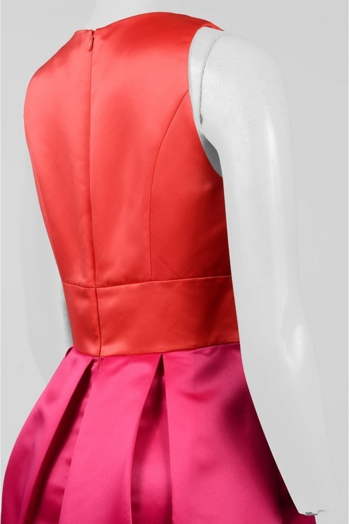 Sangria SBLV1114 Sleeveless Color Block Satin Dress