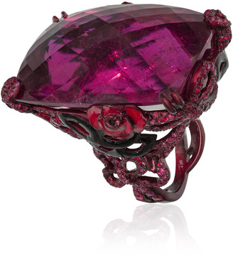 Lydia Courteille Scarlet Empress Big Rubellite Ring