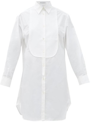 J.W.Anderson Pique-bib Cotton Tuxedo Tunic Shirt - White