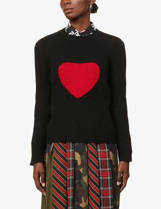Benetton Graphic pattern wool-blend jumper
