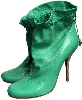 Gianmarco Lorenzi Green Leather Boots