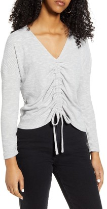 Lulus Briony Tie Ruched Top