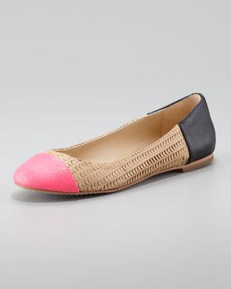 Dolce Vita Baca Fish-Scale Ballerina Flats, Pink/Nude, Black (Stylist Pick!)