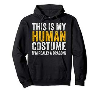 Dragon Optical Funny Easy Lazy Quick Halloween Human Really Costume Pullover Hoodie