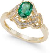 Macy's Emerald (5/8 ct. t.w.) & Diamond (1/4 ct. t.w.) Ring in 14k Gold