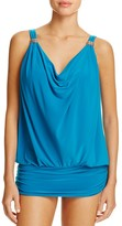 Miraclesuit Solid Luxe Ruched Tankini Top